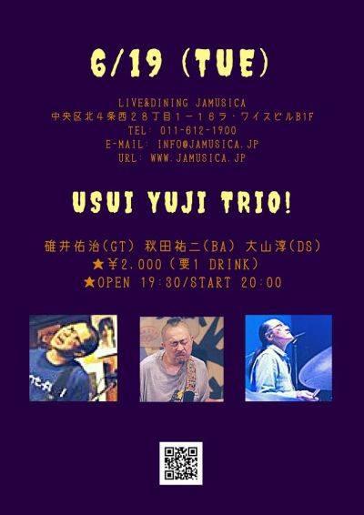 【終了】[2018.6.19 TUE] USUI YUJI TRIO!